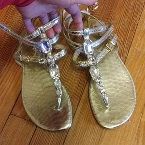 Michael Kors Rhinestone Sandals